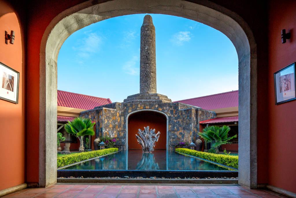 Entrance at Rhumerie de Chamarel, Mauritius