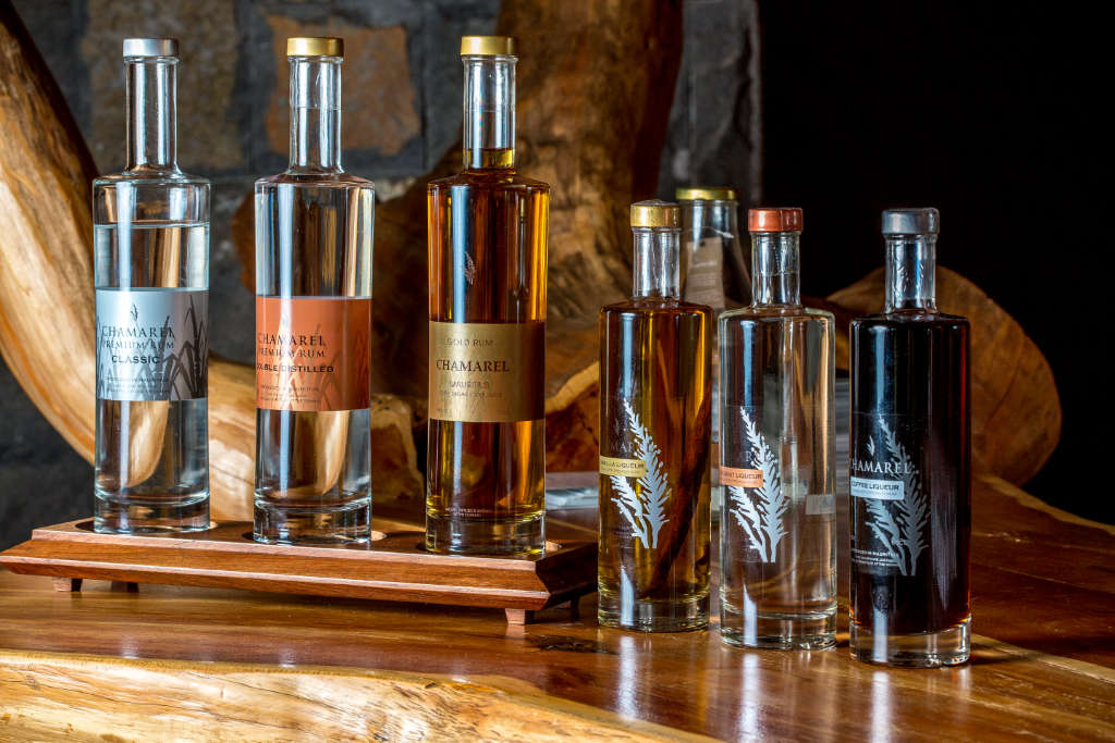 Premium rum selection at Rhumerie de Chamarel, Mauritius