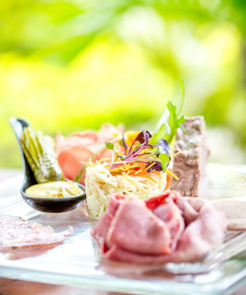 Starter platter at Rhumerie de Chamarel restaurant in Mauritius