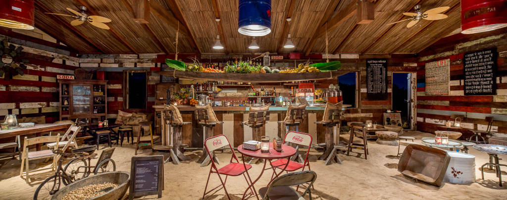 Shanti Maurice Rum Shed bar restaurant in Mauritius
