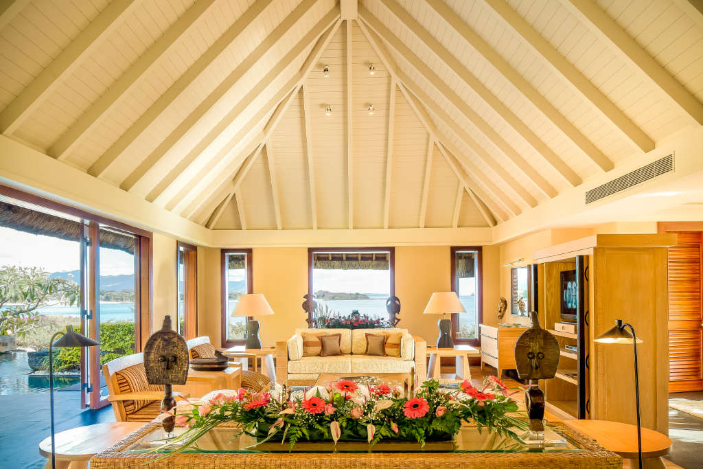 The Oberoi Mauritius suite with high ceiling