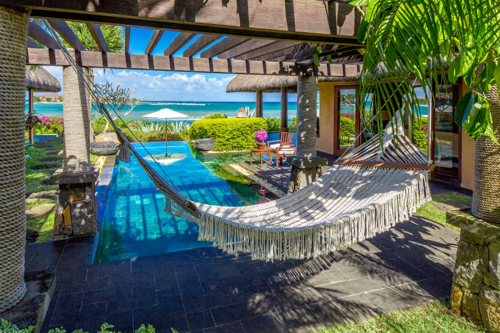 The Oberoi Mauritius Royal Villa Pool with Hammock